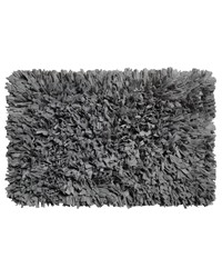 Paper Shag Cotton   Poly Blend Bath Mat Pewter by