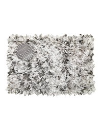 Tie Dye Paper Shag Cotton   Poly Blend Bath Mat Grey by