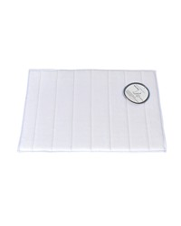 Medium-Sized Memory Foam Bath Mat in White by
