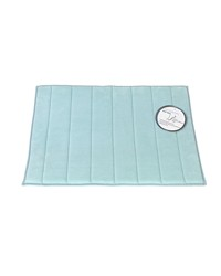 Medium-Sized Memory Foam Bath Mat in Spa Blue by