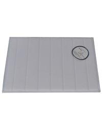 Medium-Sized Memory Foam Bath Mat in Pewter by