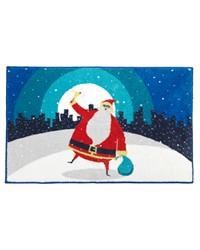 Santa in the City Bathroom Rug by