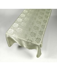 Rose Damask 60x108 Fabric Tablecloth in Sage by