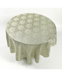 Rose Damask 70 Round Fabric Tablecloth in Sage by