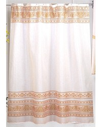 Fleur Fabric Shower Curtain in Gold by