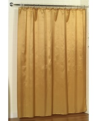 Lauren Dobby Fabric Shower Curtain in Gold by