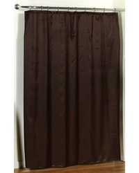 Lauren Dobby Fabric Shower Curtain in Brown by