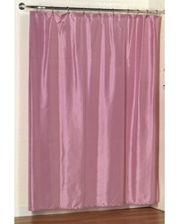 Lauren Dobby Fabric Shower Curtain in Rose by