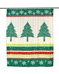 Tannenbaum Fabric Shower Curtain by