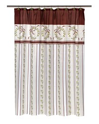 Victorian Christmas Fabric Shower Curtain by
