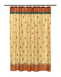 Winters Break Fabric Shower Curtain by