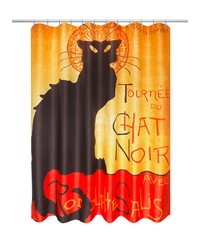 Chat Noir Museum Collection Fabric Shower Curtain Size 70x72 Multi by