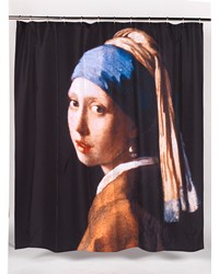 Girl with the Pearl Earring Fabric Shower Curtain by