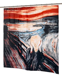 The Scream Fabric Shower Curtain by