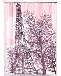 Tour Eiffel Fabric Shower Curtain by