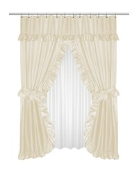 Lauren Double Swag Shower Curtain Ivory by