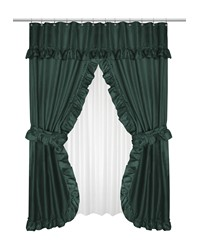 Lauren Double Swag Shower Curtain Evergreen by