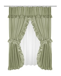 Lauren Double Swag Shower Curtain Sage by