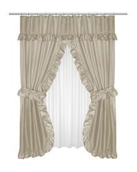 Lauren Double Swag Shower Curtain Linen by