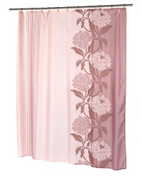 Chelsea Fabric Shower Curtain in Chocolate Size 70x96 by