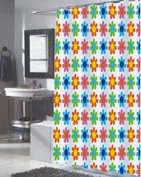 Extra Long Abbie Fabric Shower Curtain by