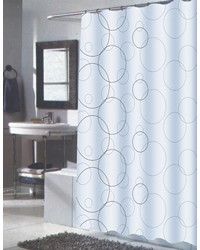 Extra Long Ava Fabric Shower Curtain by