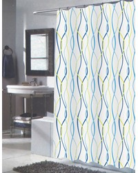Extra Long Claire Fabric Shower Curtain by