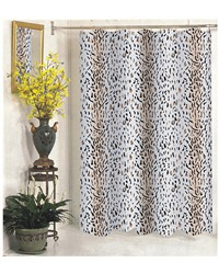 Extra Long Hailey Fabric Shower Curtain by