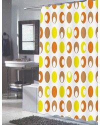 Extra Long Madeline Fabric Shower Curtain by