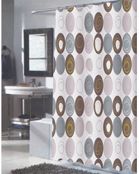 Extra Long Madison Fabric Shower Curtain by