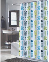 Extra Long Olivia Fabric Shower Curtain by