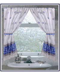 Windsor Fabric Window Curtain in Slate by