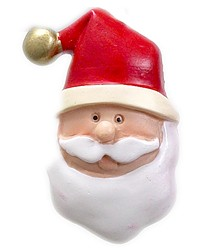Santa Claus Resin Shower Curtain Hooks by