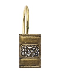 Seneca Resin Shower Curtain Hooks in Antique Gold by