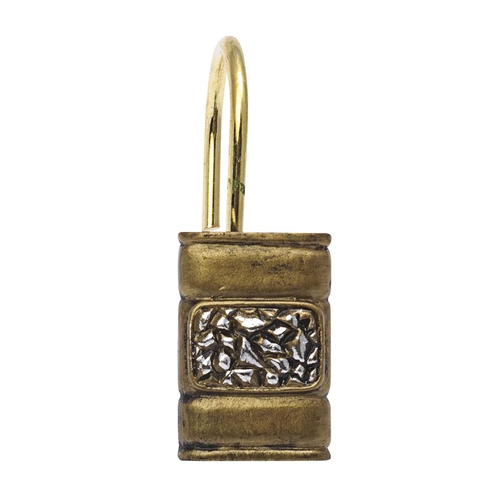 Seneca Resin Shower Curtain Hooks In Antique Gold