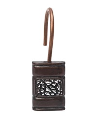 Seneca Resin Shower Curtain Hooks in Oil Rubbed Bronze by