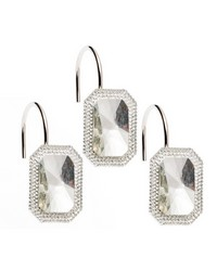 Tiffany Bejeweld Resin Shower Curtain Hooks in Clear by