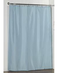 Standard-Sized Polyester Fabric Shower Curtain Liner in Light Blue by