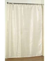 Standard-Sized Polyester Fabric Shower Curtain in Ivory by