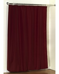 Standard-Sized Polyester Fabric Shower Curtain Liner in Burgundy by