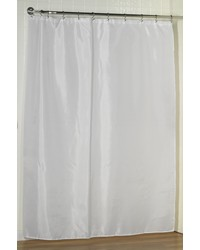 Standard-Sized Polyester Fabric Shower Curtain Liner in White by