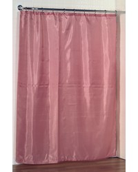 Standard-Sized Polyester Fabric Shower Curtain Liner in Rose by
