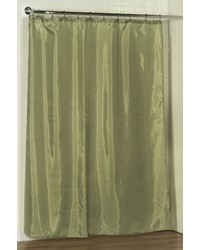 Standard-Sized Polyester Fabric Shower Curtain Liner in Sage by