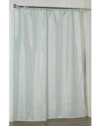 Standard-Sized Polyester Fabric Shower Curtain Liner in Spa Blue by