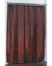 Standard-Sized Polyester Fabric Shower Curtain Liner in Spice Color by