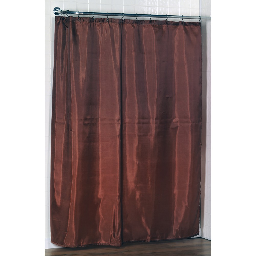 Carnation Home Fashions Inc Standard Sized Polyester Fabric Shower Curtain Liner In Spice Color