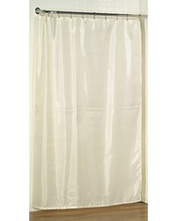 Extra Long 78 Polyester Fabric Shower Curtain Liner in Ivory by