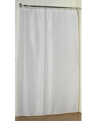 Extra Long 78 Polyester Fabric Shower Curtain Liner in White by