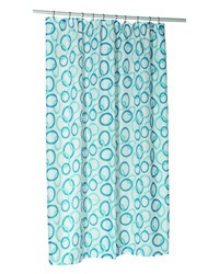 Circles Shower Stall-Sized Polyester Shower Curtain Liner by