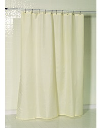 Nylon Fabric Shower Curtain Liner w Reinforced Header and Metal Grommets in Ivory by